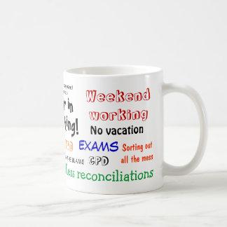 ¡Una carrera en la contabilidad! Éxito del examen Taza De Café