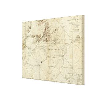 Una carta de los bancos de Terranova Impresión En Lona Estirada