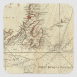 Una carta de los bancos de Terranova Pegatina Cuadrada