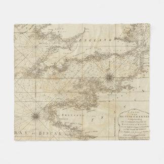 Una carta del canal británico manta de forro polar