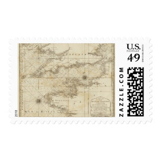 Una carta del canal británico sello postal