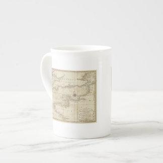 Una carta del canal británico taza de porcelana