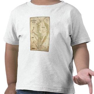 Una carta del Chesapeake y de las bahías de Camisetas