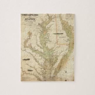 Una carta del Chesapeake y de las bahías de Puzzle