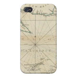 Una carta del golfo de St Lawrence iPhone 4 Cobertura