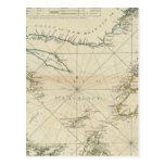 Una carta del golfo de St Lawrence Postales