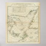 Una carta del golfo de St Lawrence Póster