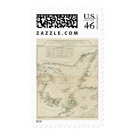 Una carta del golfo de St Lawrence