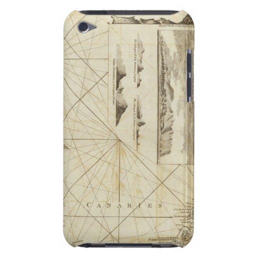 Una carta del Maderas y de las islas Canarias Case-Mate iPod Touch Protector