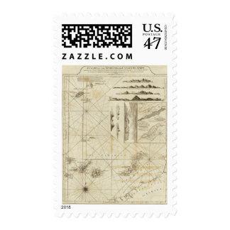 Una carta del Maderas y de las islas Canarias Sello