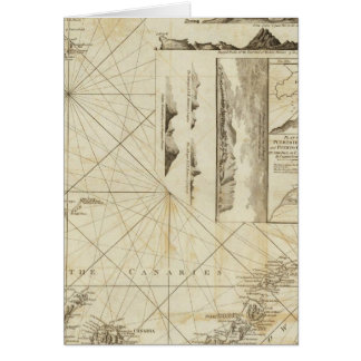 Una carta del Maderas y de las islas Canarias Tarjeta De Felicitación