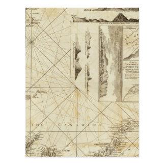 Una carta del Maderas y de las islas Canarias Tarjetas Postales