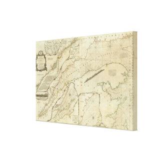 Una carta exacta del río St Lawrence Impresion De Lienzo