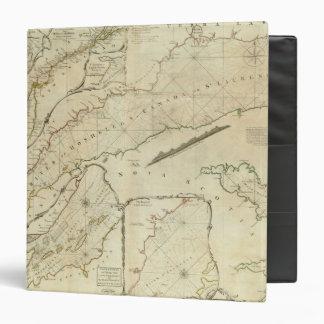 """Una carta exacta del río St Lawrence Carpeta 1 1/2"""""""