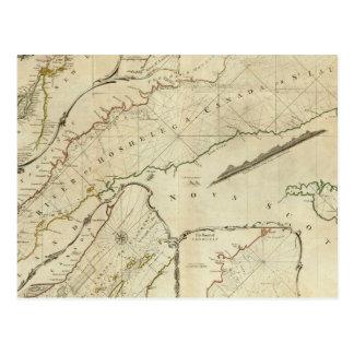 Una carta exacta del río St Lawrence Tarjeta Postal