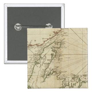Una carta general de la isla de Terranova Pin Cuadrada 5 Cm