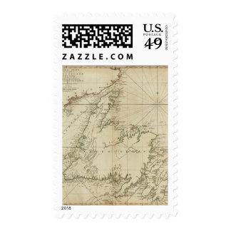 Una carta general de la isla de Terranova Sello