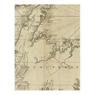 Una carta general de la isla de Terranova Tarjeta Postal