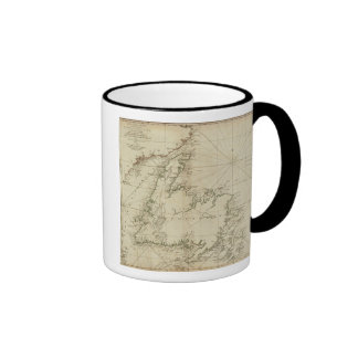 Una carta general de la isla de Terranova Taza De Café