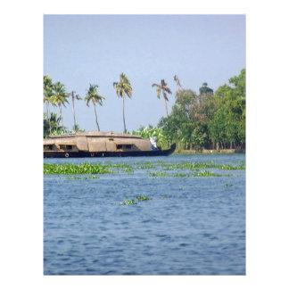 Una casa flotante en remansos en Kerala Membretes Personalizados