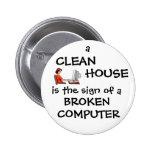 Una casa limpia es la muestra de un ordenador queb pins
