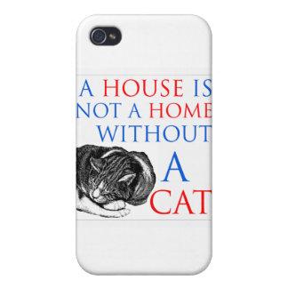 Una casa no es un gato casero… iPhone 4/4S carcasa