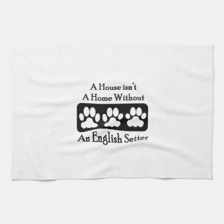 Una casa no es un hogar sin un organismo inglés toallas de mano