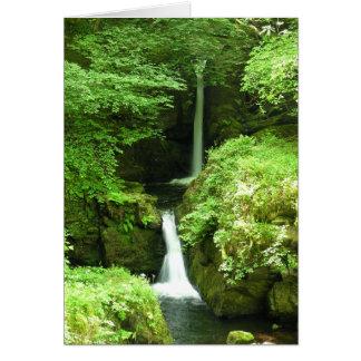 Una cascada hermosa en el río de Lyn, Devon Tarjeta De Felicitación