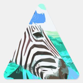 una cebra visita el desierto nuevo calcomania de trianguladas