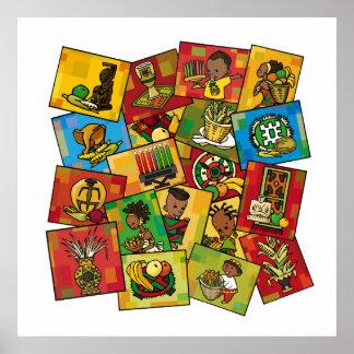 Una celebración de Kwanzaa Poster
