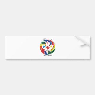 Una celebración de nuestros atletas canadienses etiqueta de parachoque