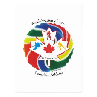 Una celebración de nuestros atletas canadienses postales