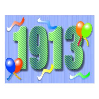Una centésima postal 1913 del cumpleaños