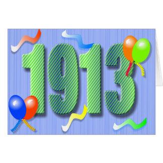 Una centésima tarjeta del cumpleaños 1913
