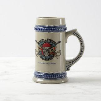 Una cerveza observada Stein - azul de los enchufes Taza