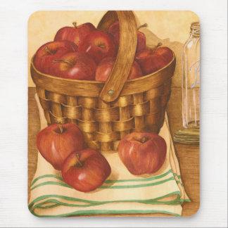 Una cesta de manzanas - Mousepad