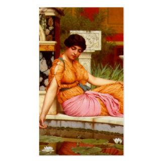 Una charca del lirio - Juan Guillermo Godward Plantilla De Tarjeta Personal