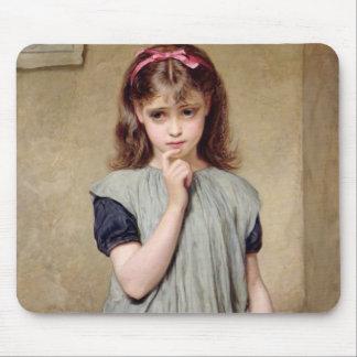 Una chica joven en la sala de clase, 1876 (aceite  alfombrillas de ratón