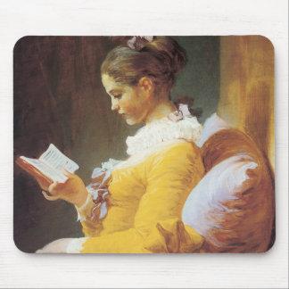 Una chica joven Mousepad de lectura