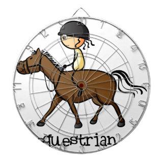 Una chica joven que monta un caballo