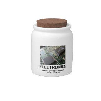 Una cierta electrónica jarras para caramelos
