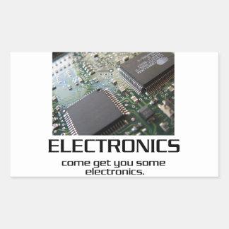 Una cierta electrónica pegatina rectangular
