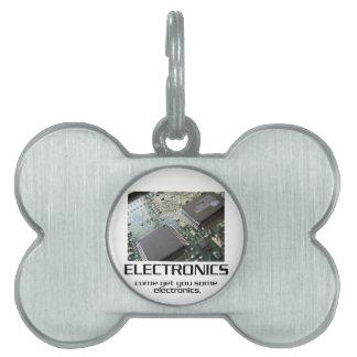 Una cierta electrónica placa de mascota