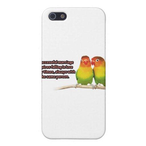 Una cita acertada de la boda iPhone 5 carcasas