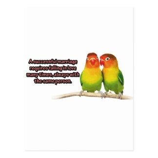 Una cita acertada de la boda postales