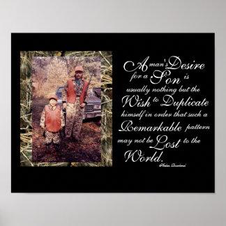 Una cita del hijo del padre y un regalo inspirado póster