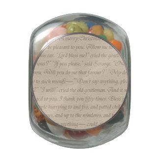 Una cita del villancico del navidad jarrones cristal