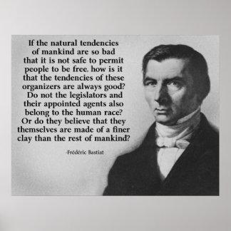 Una cita más fina de la arcilla de Bastiat Poster