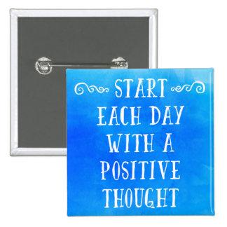 Una cita positiva del pensamiento pin cuadrado