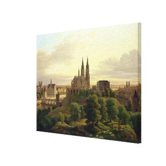 Una ciudad medieval en 1830, 1830 impresion en lona
